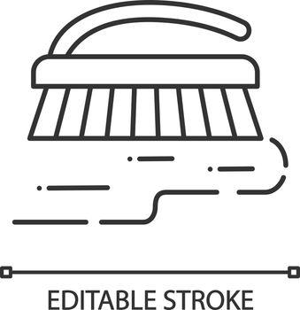 Scrub brush linear icon