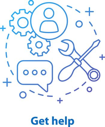 Technical support concept icon