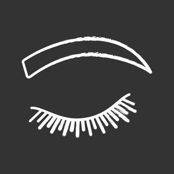 Rounded eyebrow shape chalk icon