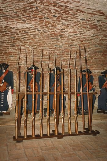Gunroom in the Old medieval Fort