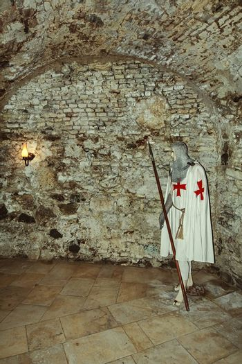 Knight's dummy in the old citadel