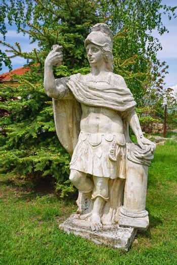 Old Statue of an Roman Hero in the Garden