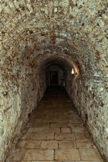 Corridor in the old fortress