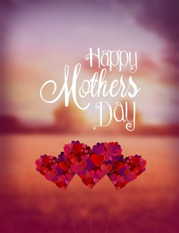 Digitally generated Happy mothers day vector