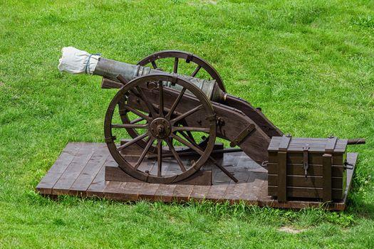 Fortress Cannons in Alba Carolina Citadel, Alba Iulia, Romania