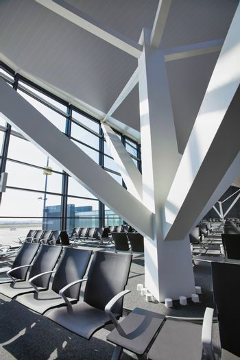 Photo of empty boarding gate in airport