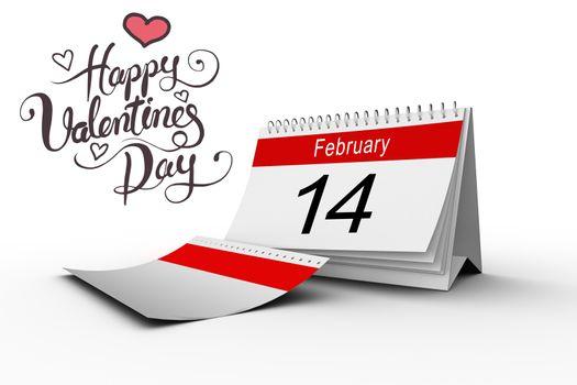 Composite image of happy valentines day
