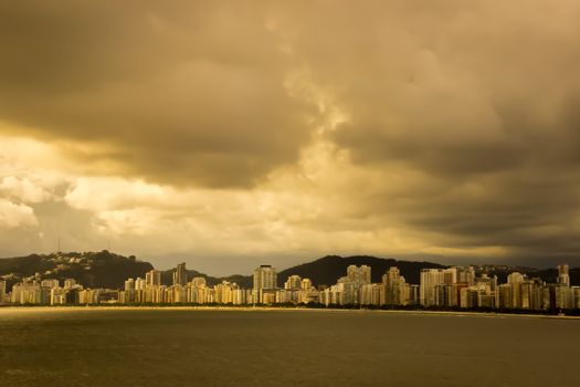 houses off the coast of brazil
