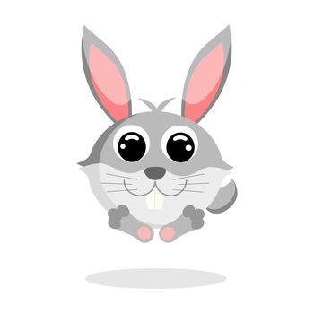 hare flat vector
