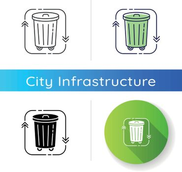 Waste disposal icon