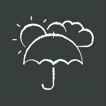 Meteorology chalk white icon on black background