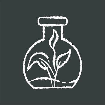 Botany chalk white icon on black background