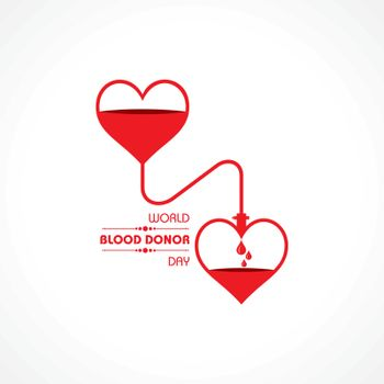 Vector Illustration For World Blood Donor Day.Donate Blood Concept which is held on 14th June