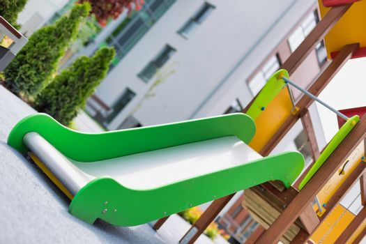 Photo of slide on playground