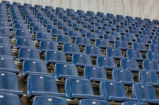Photo of blue stadium tracks