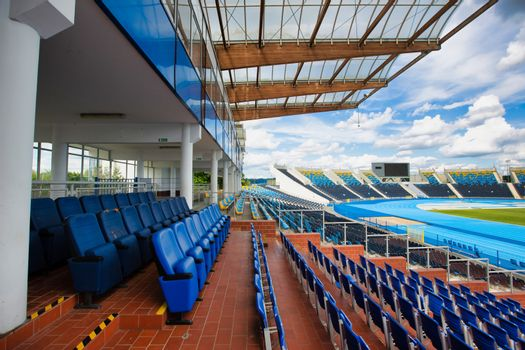 Full length view athlete stadium