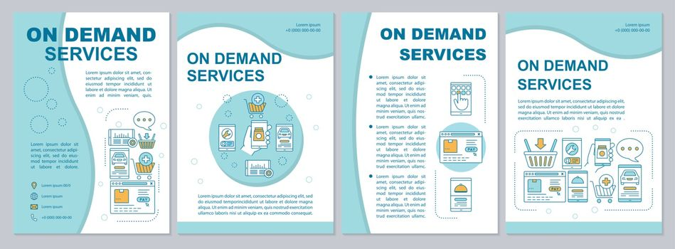 On demand economy brochure template layout. Customer services fl