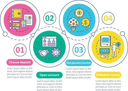 Deposit vector infographic template. Business presentation desig