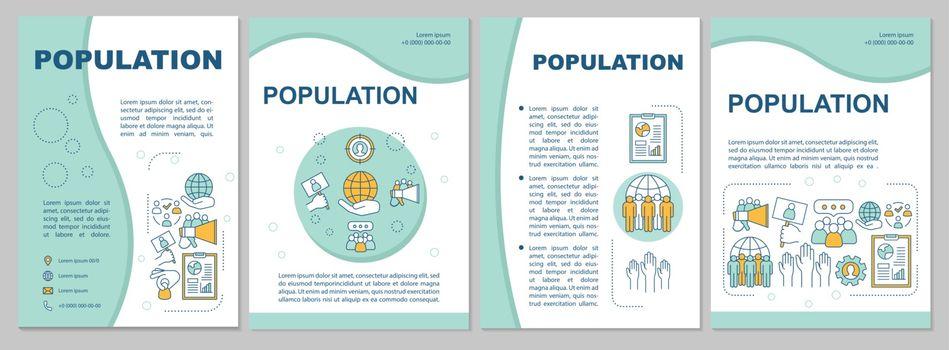 Population brochure template. Demographic problem. Flyer, bookle