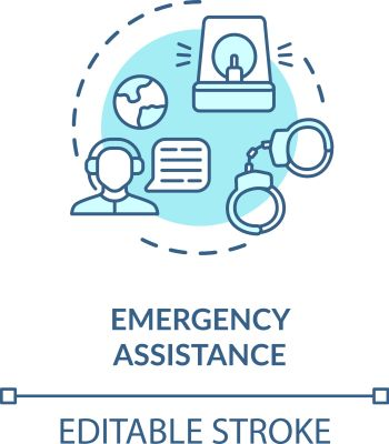 Emergency assistance concept icon