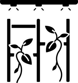 Vertical garden black glyph icon