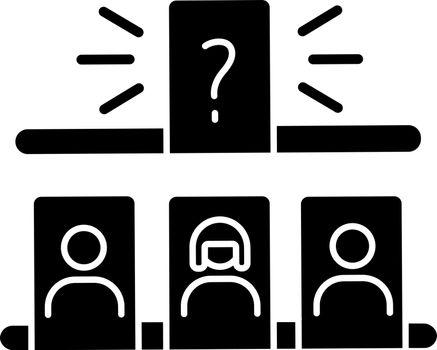 Storytelling game black glyph icon
