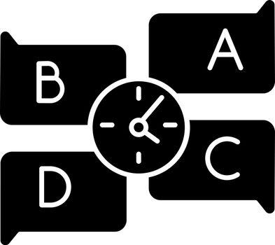 Educational game black glyph icon