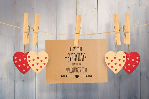 Composite image of i love you everyday