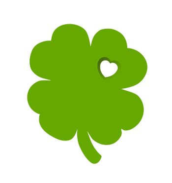 Shamrock with heart cut out