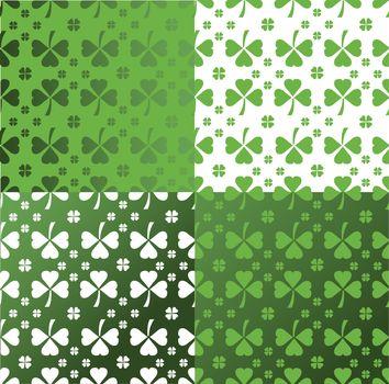 Shamrock pattern vector
