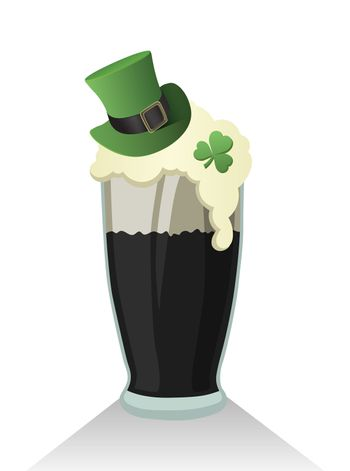St patricks day vector with pint of stout