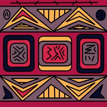 Seamless ethnic pattern. Vector illustration