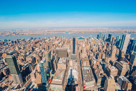 view to New York City from Empire State Building