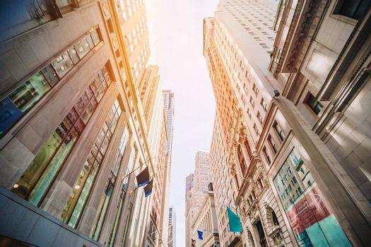 Beautiful street of New York City and America