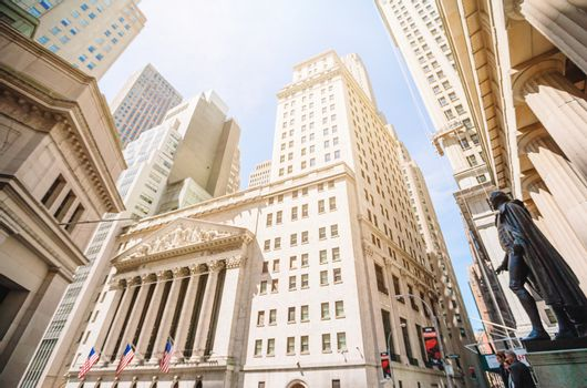 The New York Stock Exchange at 11 Wall Street is the largest stock exchange in the world
