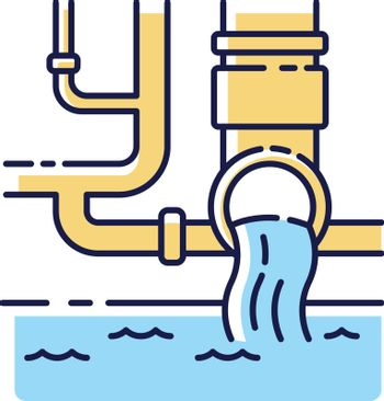 Water supply RGB color icon