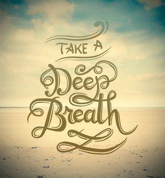 Take a deep breath vector