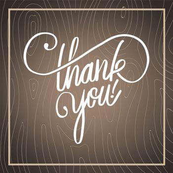 Thank you in cursive script vector