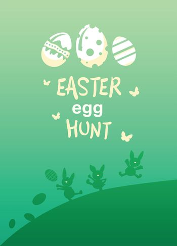 Easter egg hunt vector