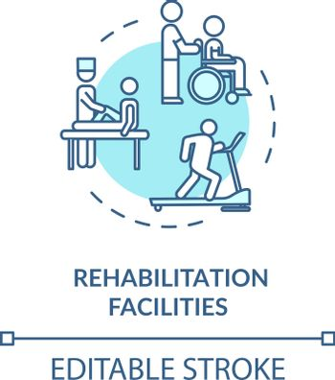 Rehabilitation facilities turquoise concept icon