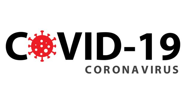 Covid-19 coronavirus pandemic outbreak minimal banner. Stay at home quarantine concept. Health care and medical vector.