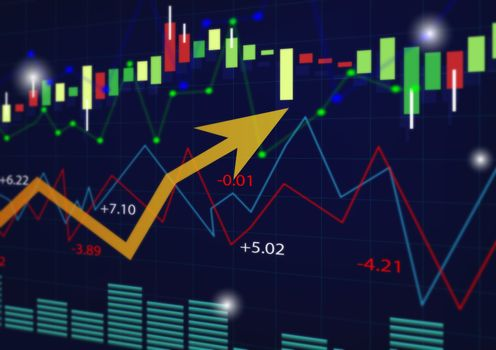 abstract finance or Investing and stock market or Economy trends background