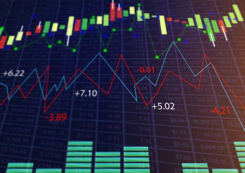 abstract of Stock market or forex trading graph, finance or Investing and stock market or Economy trends background