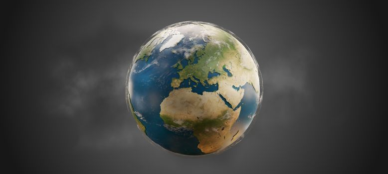 world globe planet earth. elements of this image furnished by NASA 3d-illustration