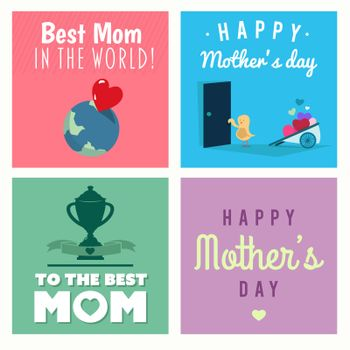 Digitally generated Mothers day vectors