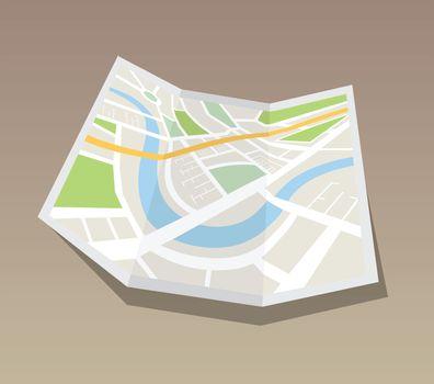 Map of urban infrastructure vector