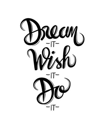 Motivational vector with dream text