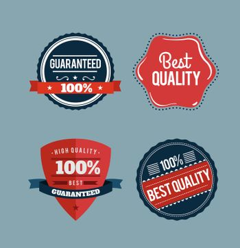 Retro styled retail badges vector