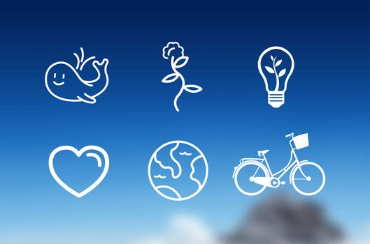Earth day icons vector
