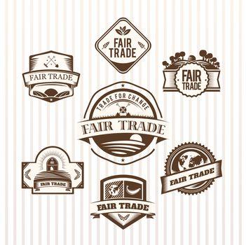 Fair Trade icons vector